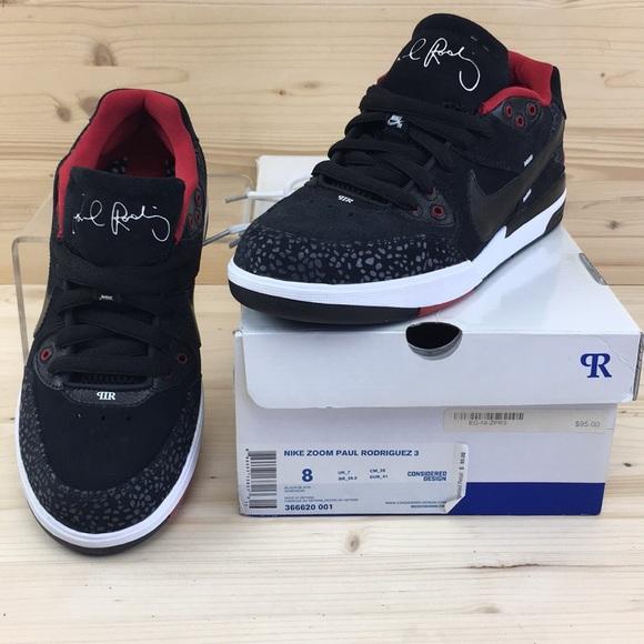 6865e6997f0be0 Nike SB Zoom Paul Rodriguez 3 Black Black Sz 8 NIB